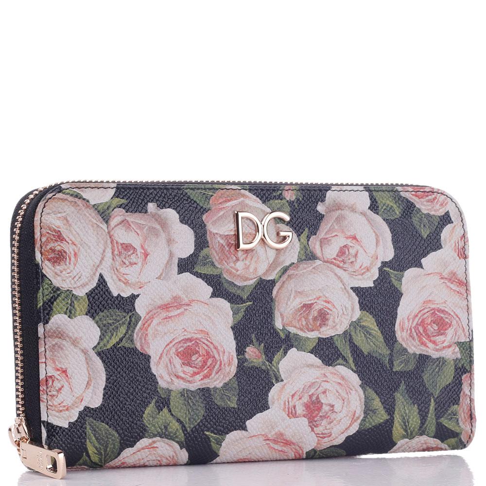 Кошелек Dolce&Gabbana с цветочным принтом