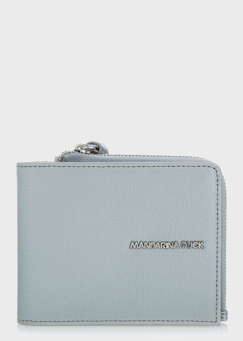 Серебристое портмоне Mandarina Duck Essential с логотипом