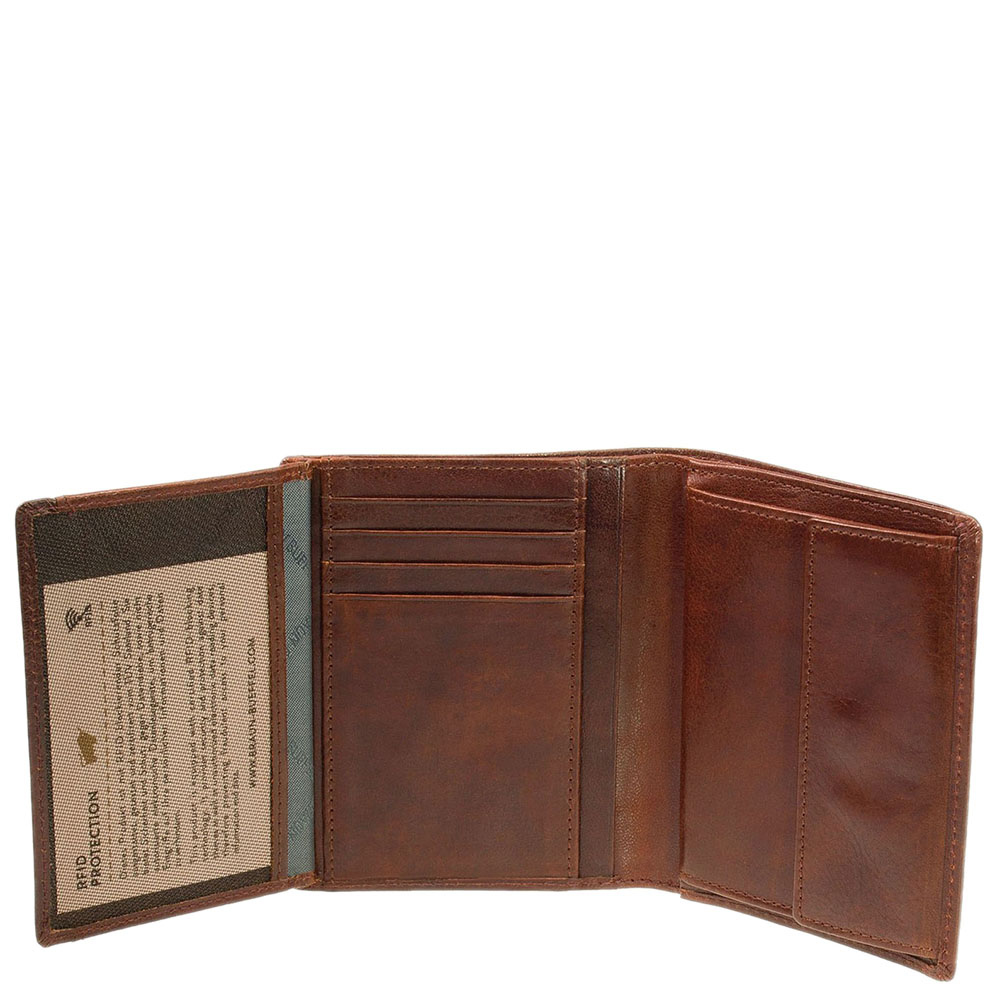 Вертикальное портмоне Braun Bueffel Arezzo коричневого цвета