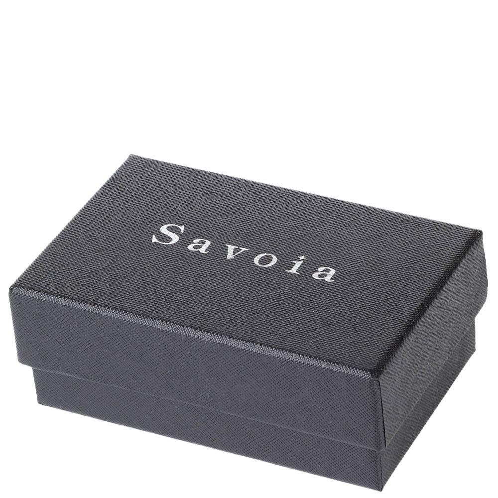 Мужское горизонтальное портмоне Savoia из натуральной кожи с тиснением
