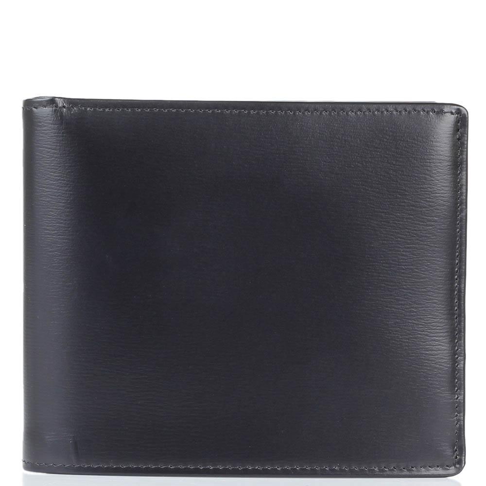 Черное горизонтальное портмоне Savoia из натуральной кожи