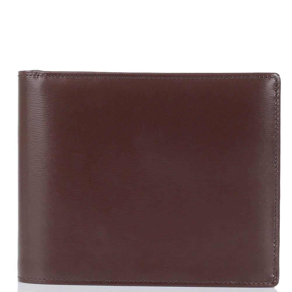 Горизонтальное вместительное портмоне Savoia из коричневой кожи