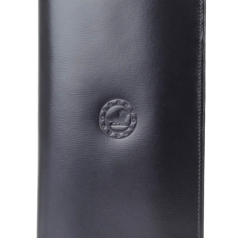Вместительное портмоне Savoia из черной кожи с отделами для карт