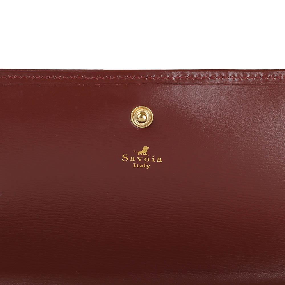 Коричневое женское портмоне Savoia из натуральной кожи на кнопке