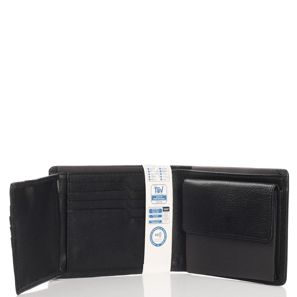 Черное портмоне Braun Bueffel Golf Secure с отделением для монет