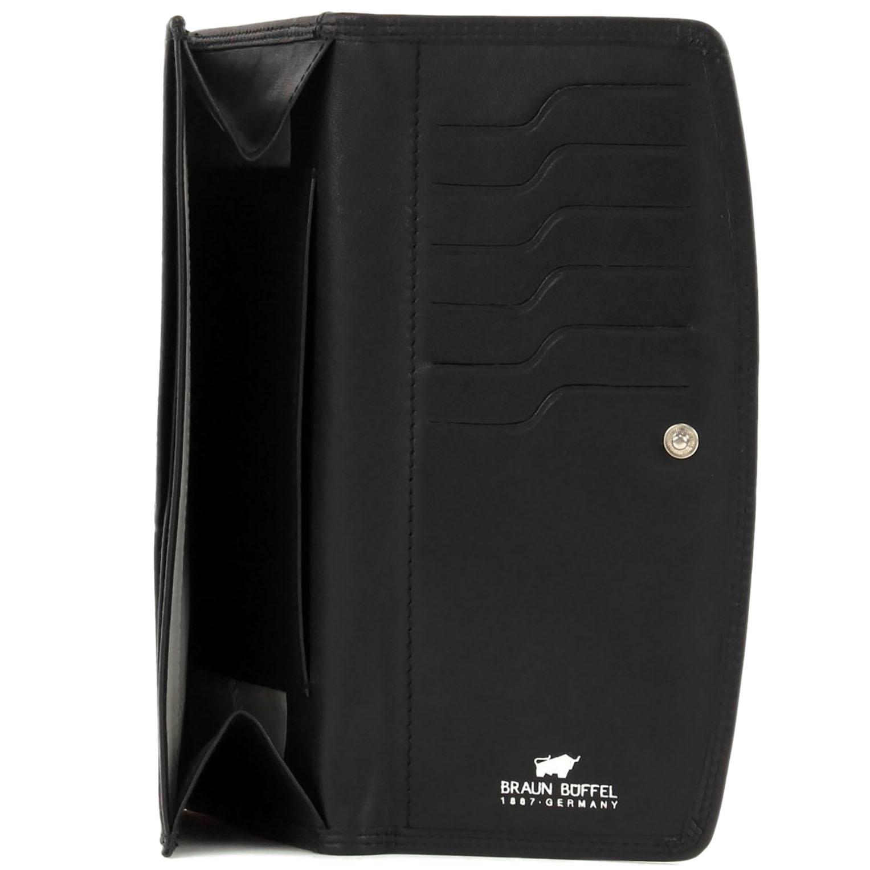 Портмоне черного цвета Braun Bueffel Golf на кнопке
