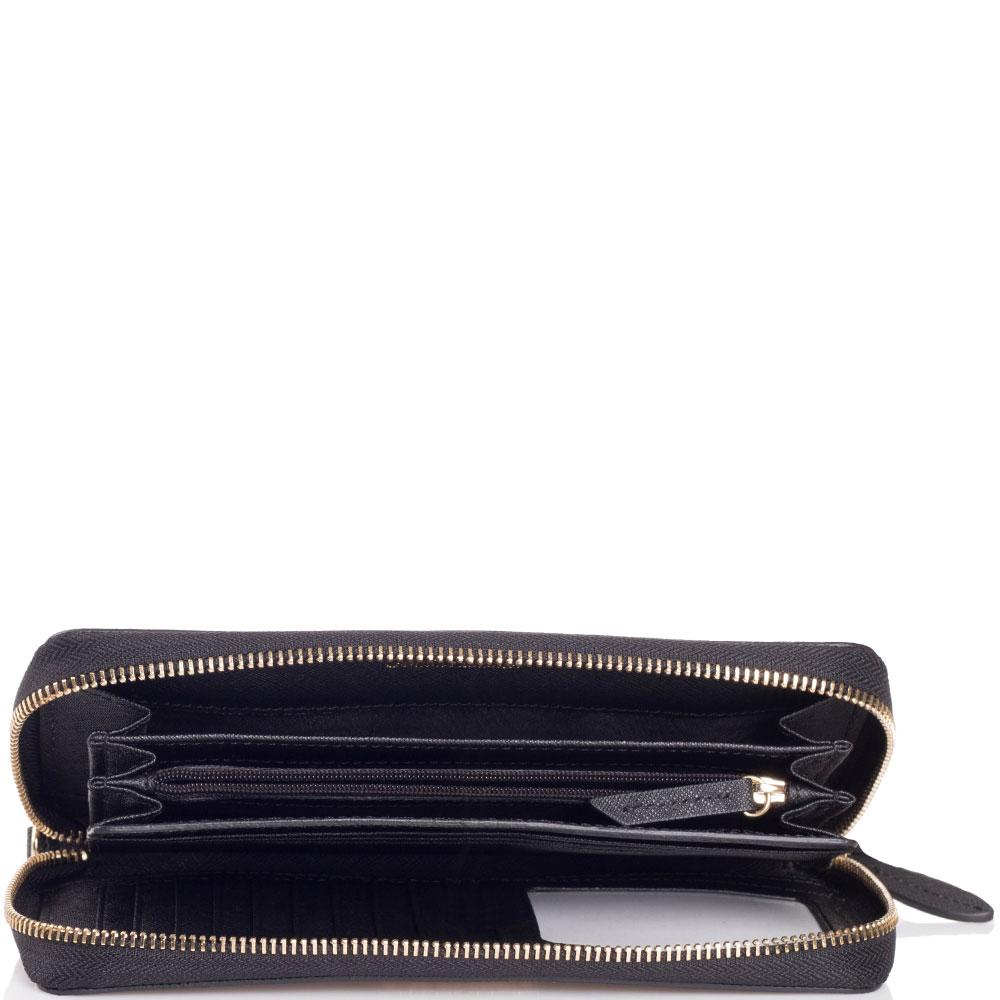 Черный кошелек Twin-Set с тиснением сафьяно