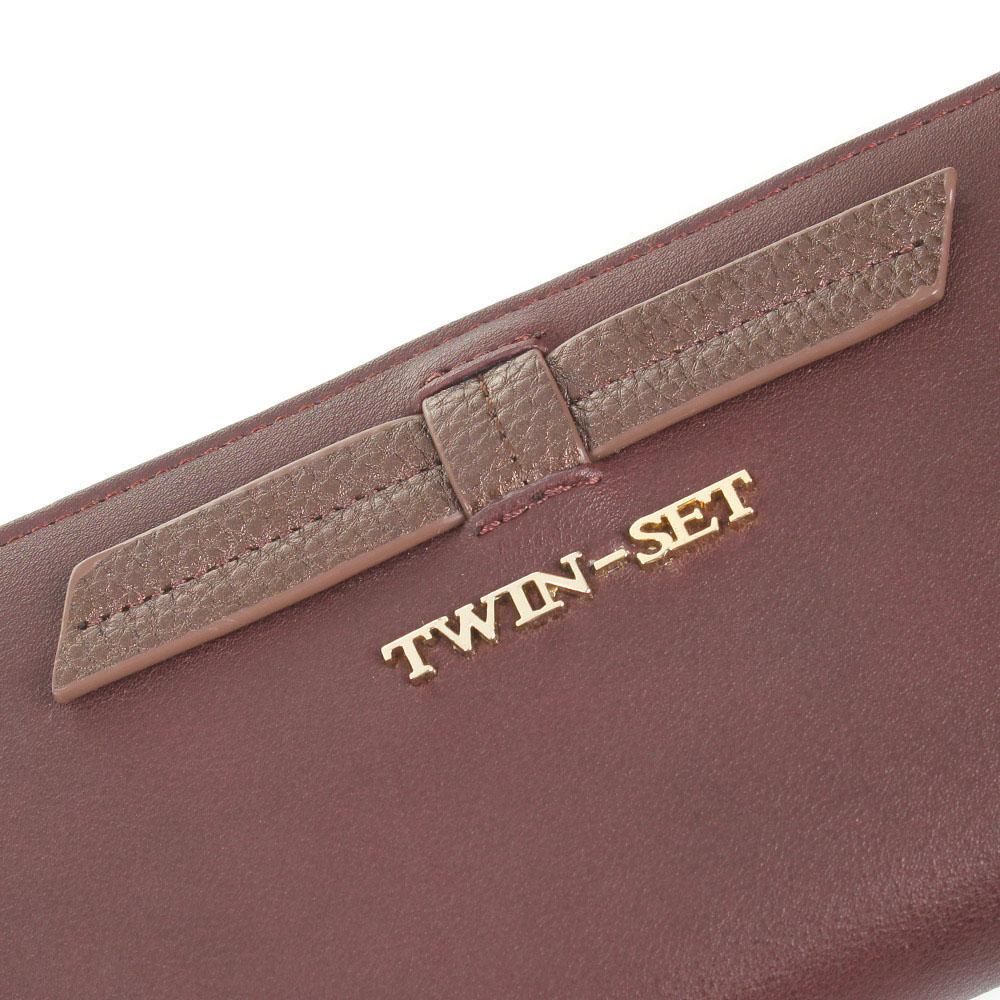 Кошелек Twin-Set Simona Barbieri бордового цвета на молнии