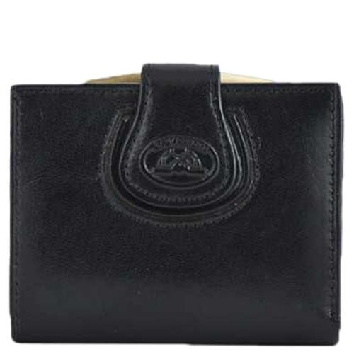 Черное портмоне Tony Perotti Accademia с монетницей