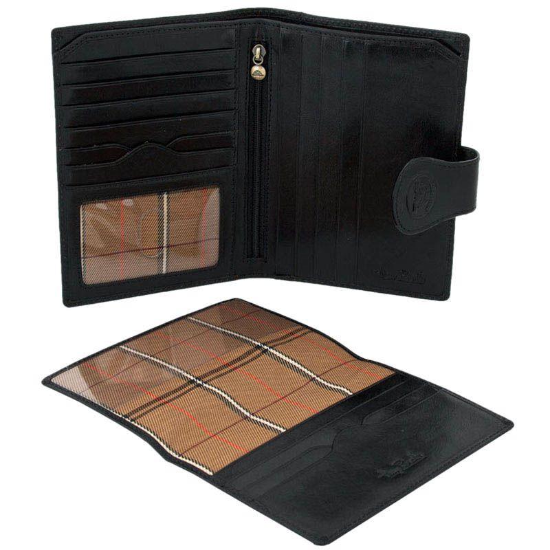 Большое портмоне Tony Perotti Accademia из черной кожи со съемной обложкой на паспорт