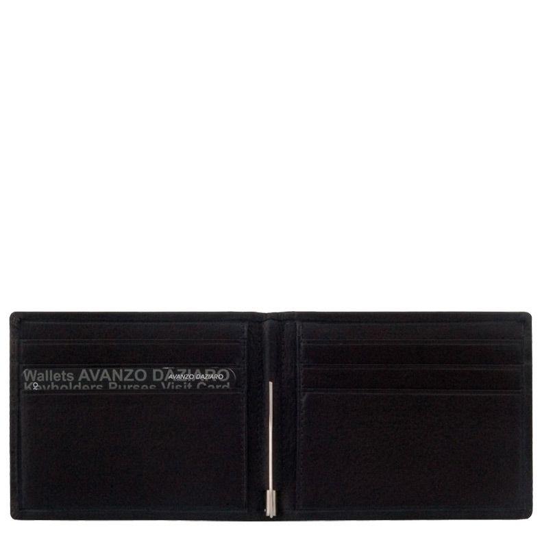 Портмоне Avanzo Daziaro Roma черное с зажимом для банкнот