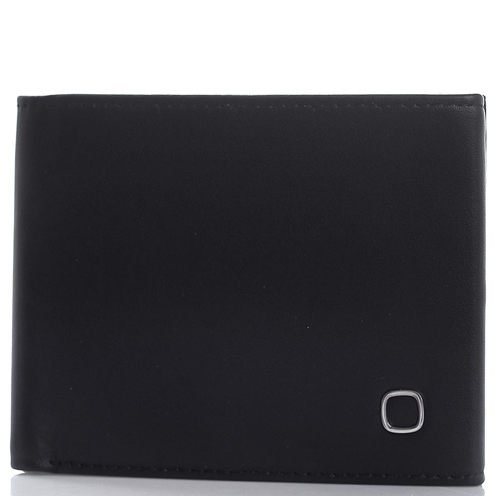 Черное портмоне Amo Accessori Verona из кожи с тиснением сафьяно