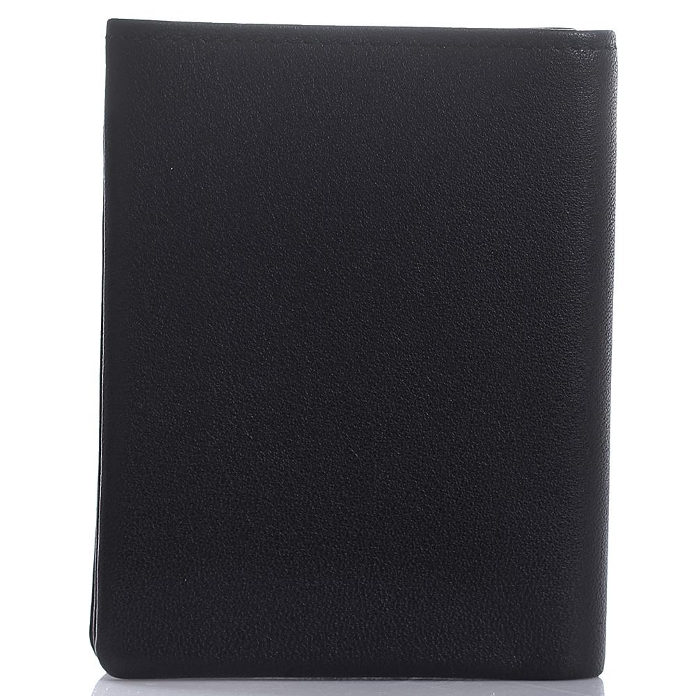 Вертикальное портмоне Amo Accessori Verona в черном цвете