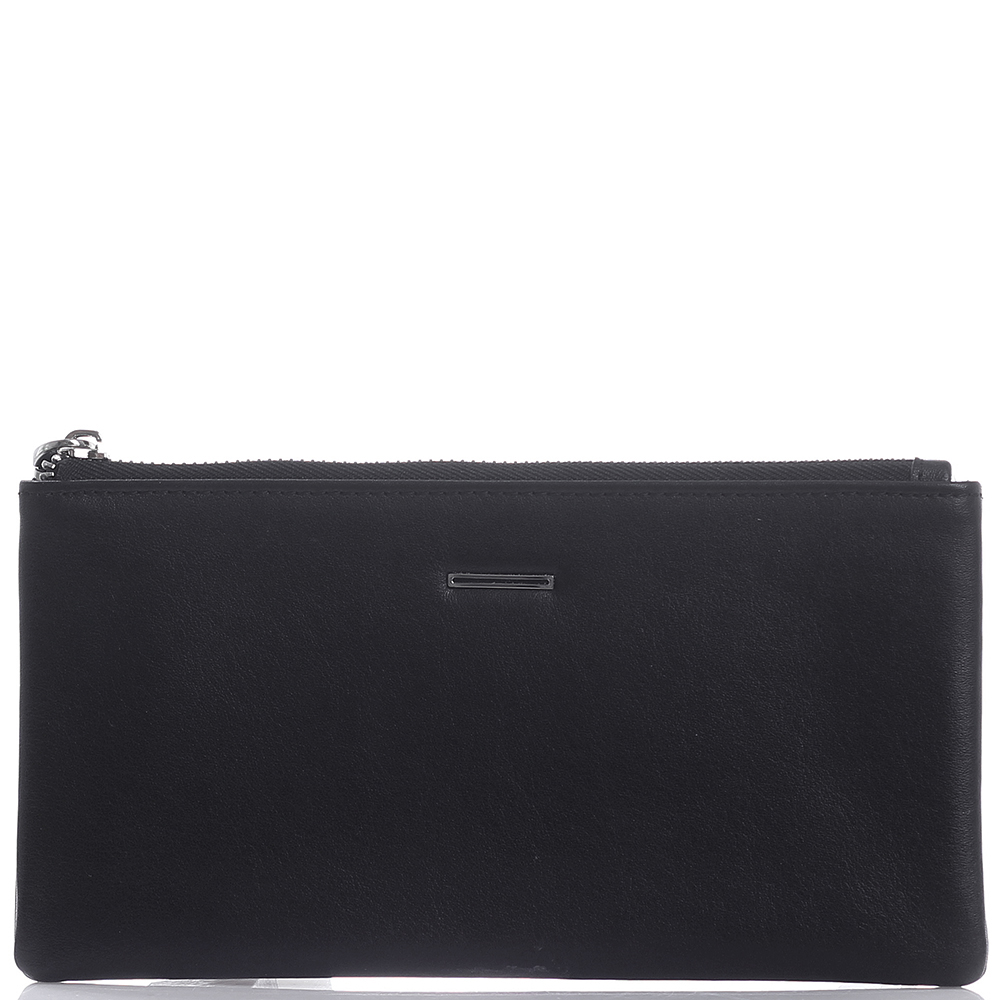 Черное портмоне Amo Accessori Verona на молнии