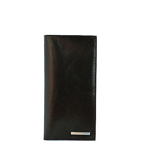 Портмоне Piquadro Blue Square кожаное черное вертикальное с отделениями для карт и документов