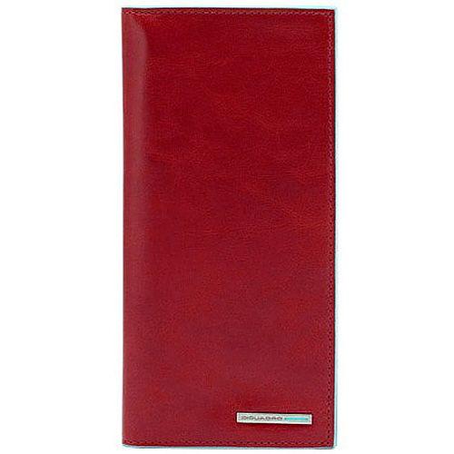 Портмоне Piquadro Blue Square кожаное красное вертикальное с отделениями для карт и документов