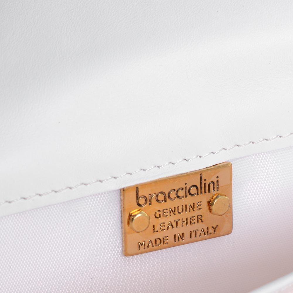 Портмоне Braccialini удлиненное кремового цвета c рельефным тиснением в виде цветов