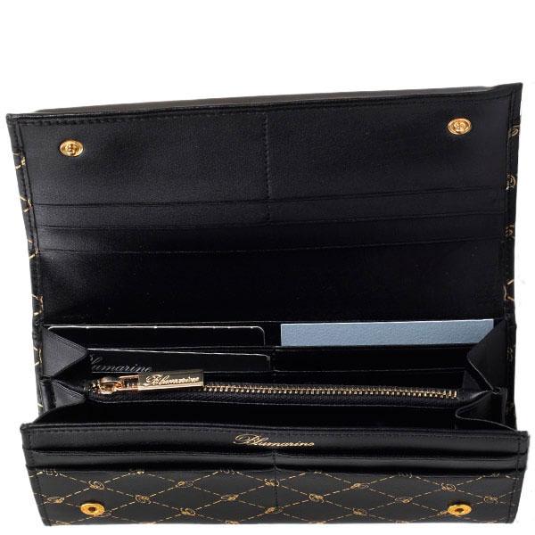 Черный кошелек Blumarine B Obsession с фирменным принтом