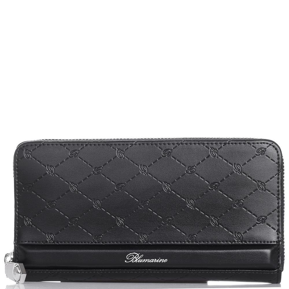 Черный кошелек Blumarine B Obsession с фирменным тиснением