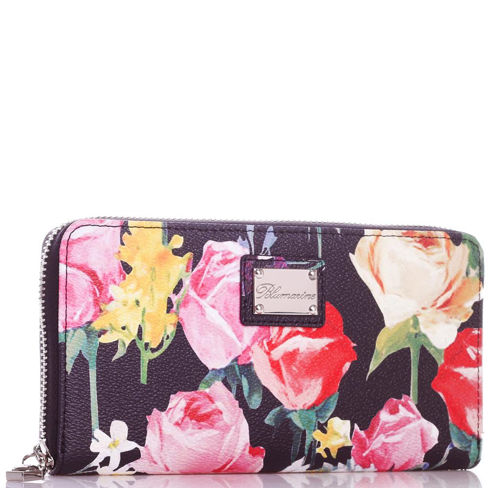 Кошелек Blumarine Rose с цветочным принтом