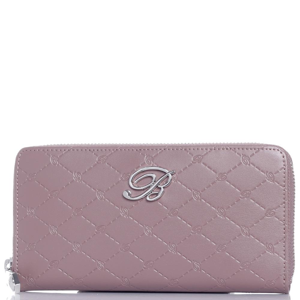 Кошелек Blumarine Peggy светло-розового цвета с логотипом