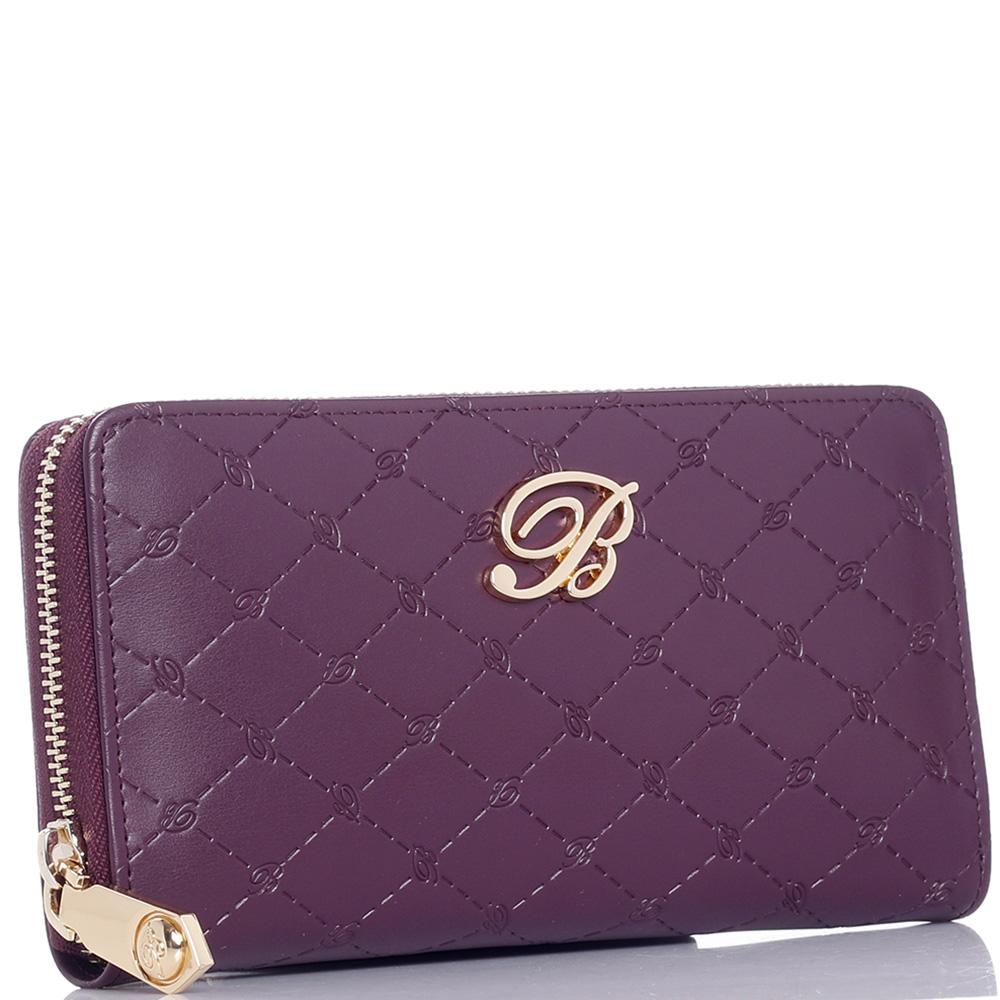 Фиолетовый кошелек Blumarine Peggy с фирменным тиснением