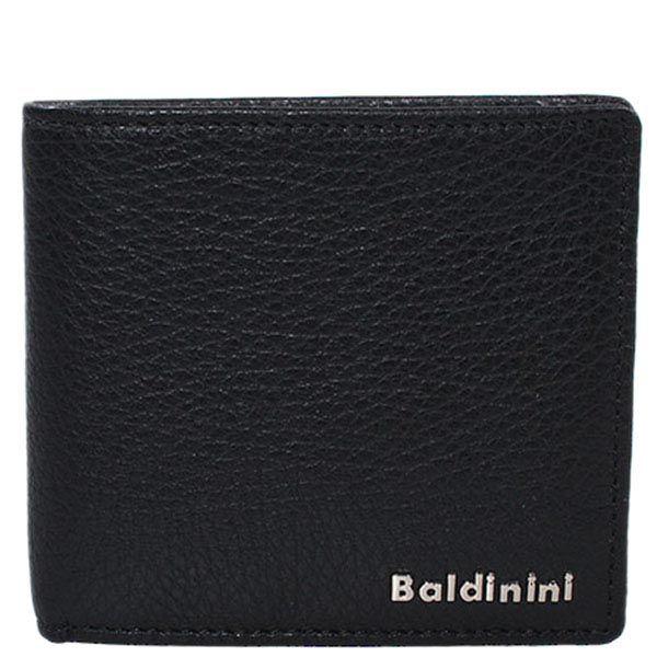 Небольшое черное портмоне Baldinini из зернистой кожи с фирменной шильдой