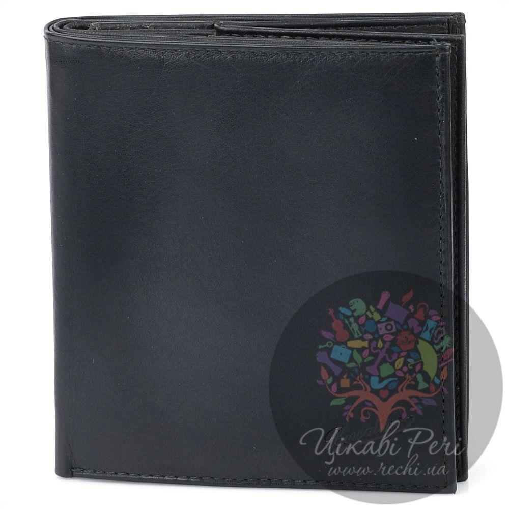 Портмоне Borsalino кожаное черное на 9 карт с необычной монетницей