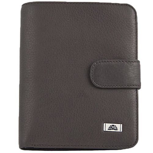 Вертикальное коричневое портмоне Tony Perotti Contatto на застежке-кнопке