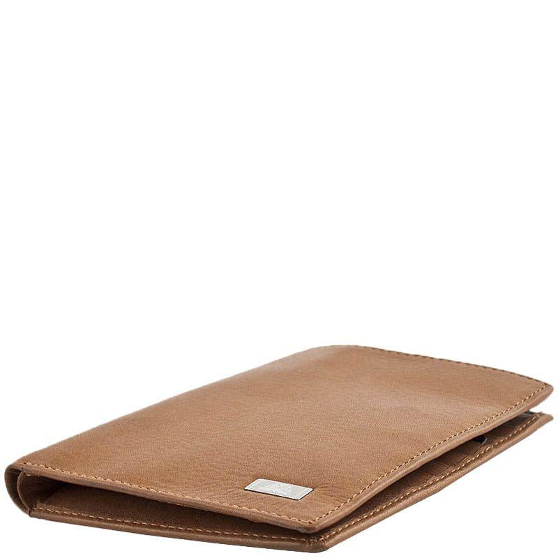 Вертикальное портмоне Tony Perotti Contatto из светлой коричневой кожи