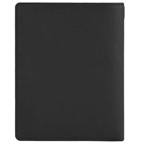 Вертикальное портмоне Tony Perotti Contatto из черной кожи с шильдой