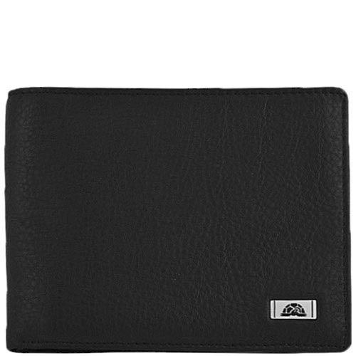 Горизонтальное черное портмоне Tony Perotti Contatto из зернистой кожи в фирменной упаковке