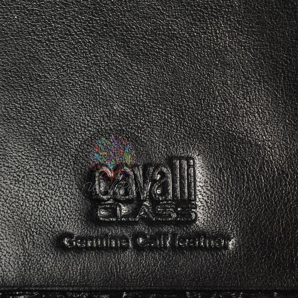 Портмоне женское Cavalli Class Keira кожаное черное