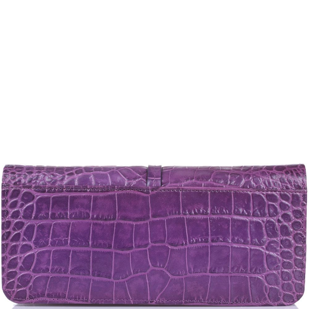 Портмоне женское Cavalli Class Daphne кожаное фиолетовое на молнии