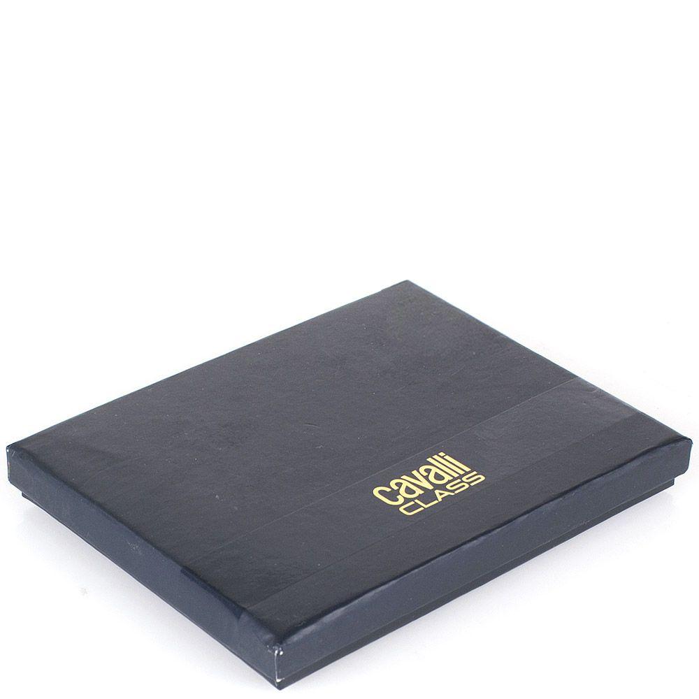 Кардхолдер Cavalli Class коричневого цвета с фактурной кожей под змею