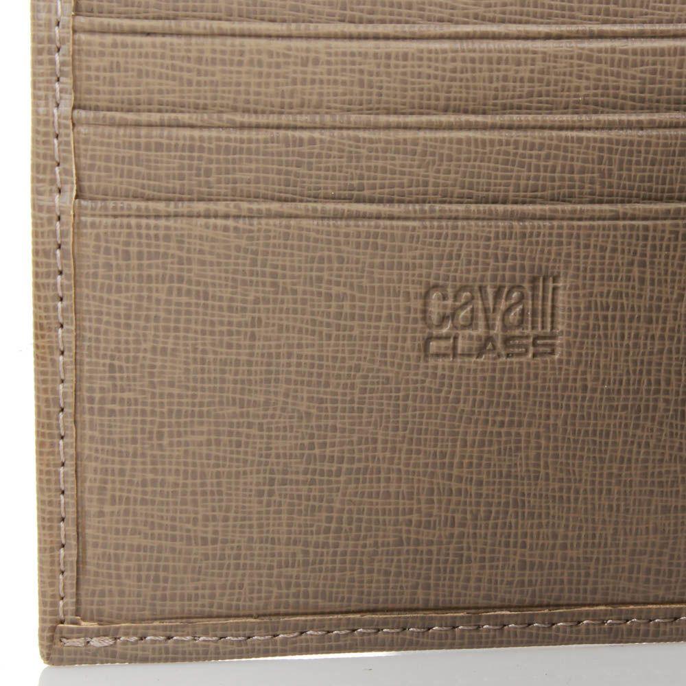 Портмоне Cavalli Class Astoria квадратное бежевого цвета с сафьяновой отделкой
