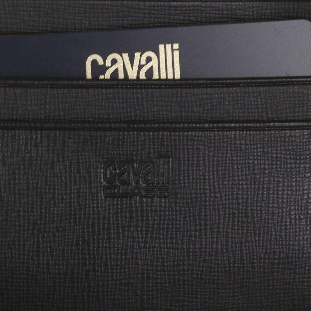 Портмоне Cavalli Class Astoria квадратное темно-коричневого цвета с сафьяновой отделкой