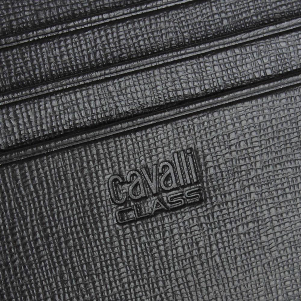 Кардхолдер Cavalli Class Astoria темно-коричневого цвета с сафьяновой отделкой кожи