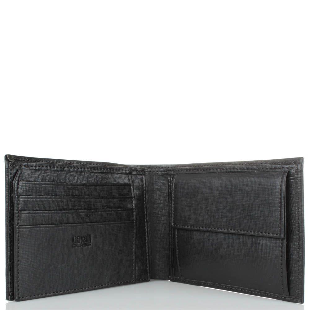 Портмоне Cavalli Class Astoria мужское темно-коричневого цвета внутри с монетницей