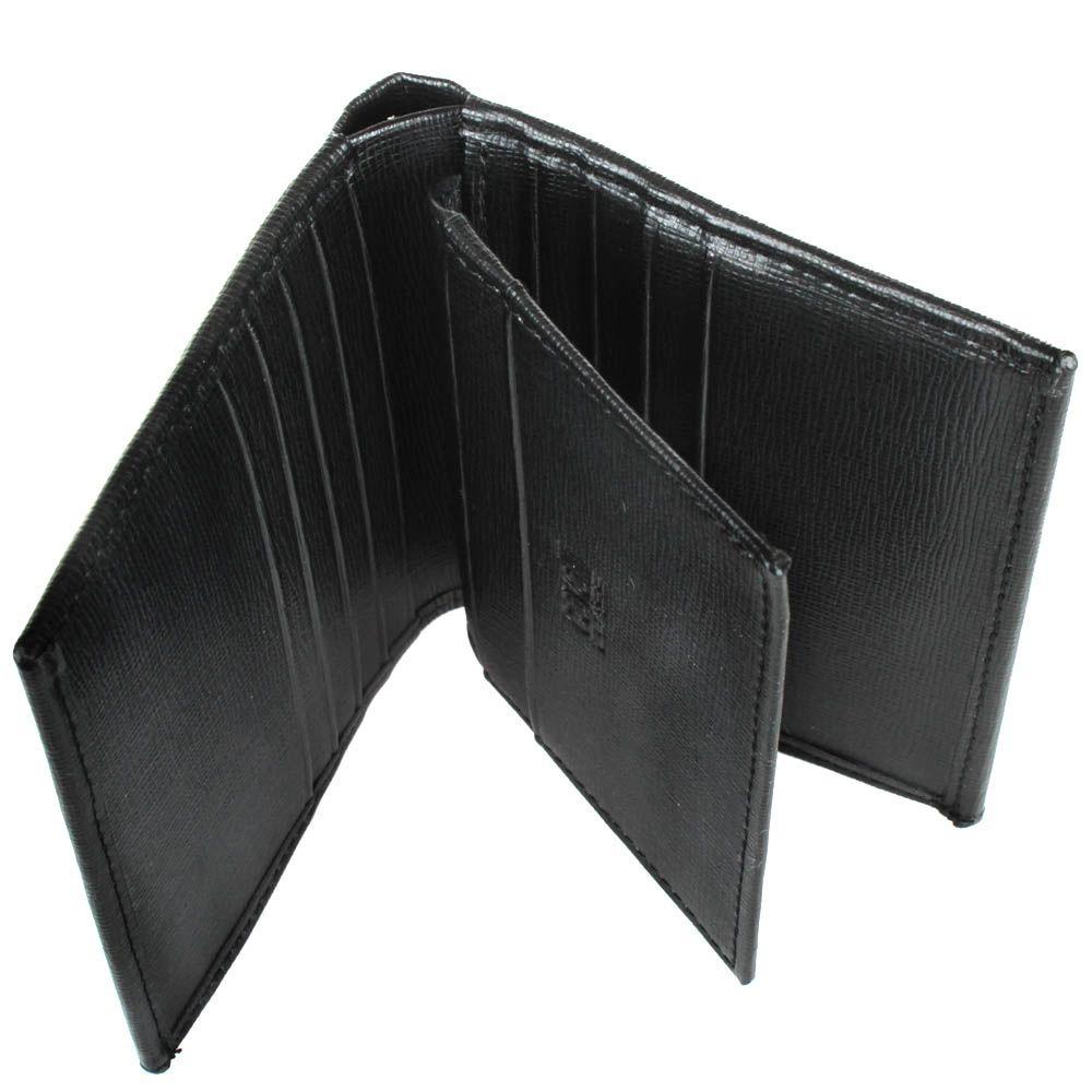 Мини портмоне Cavalli Class Astoria черного цвета с сафьяновой отделкой кожи