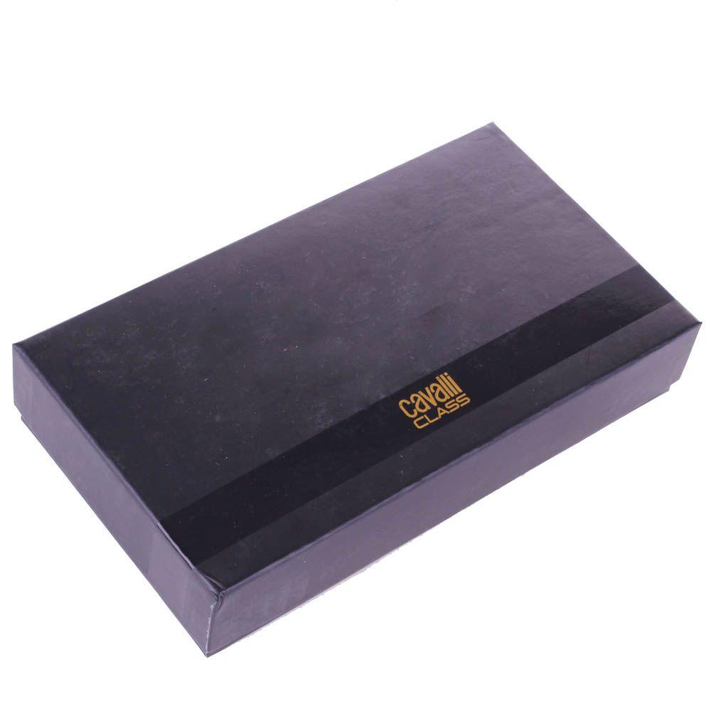 Травел-кейс Cavalli Class Astoria черного цвета с сафьяновой отделкой кожи