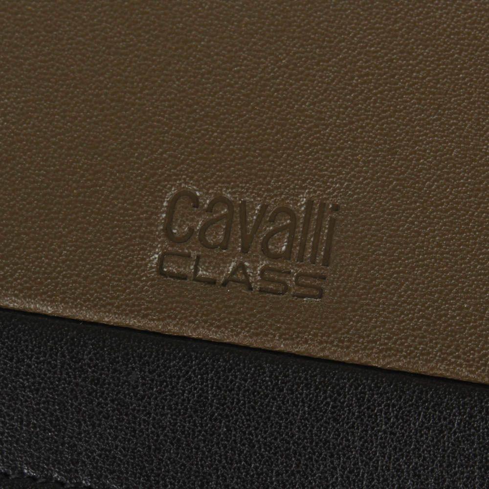 Портмоне Cavalli Class Hoxton цвета хаки с черной вставкой