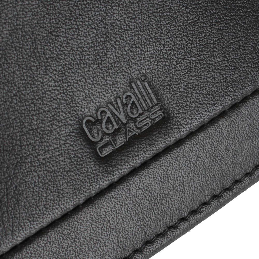 Портмоне Cavalli Class Hoxton черного цвета из гладкой кожи с декоративным швом