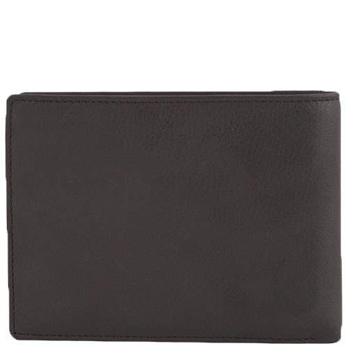 Вместительное горизонтальное портмоне Tony Perotti Contatto коричневого цвета