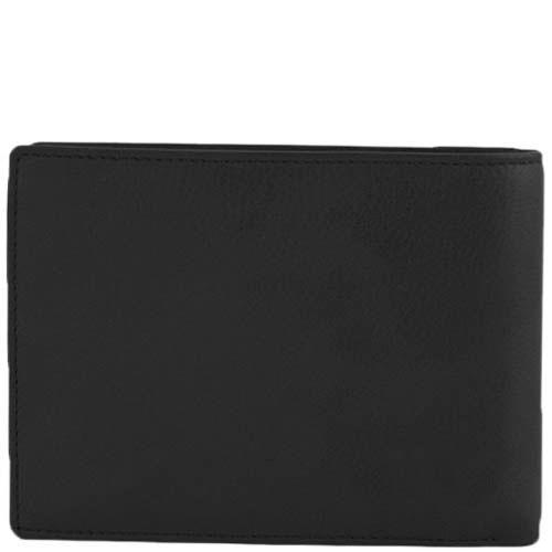 Классический кошелек Tony Perotti Contatto черного цвета из натуральной кожи