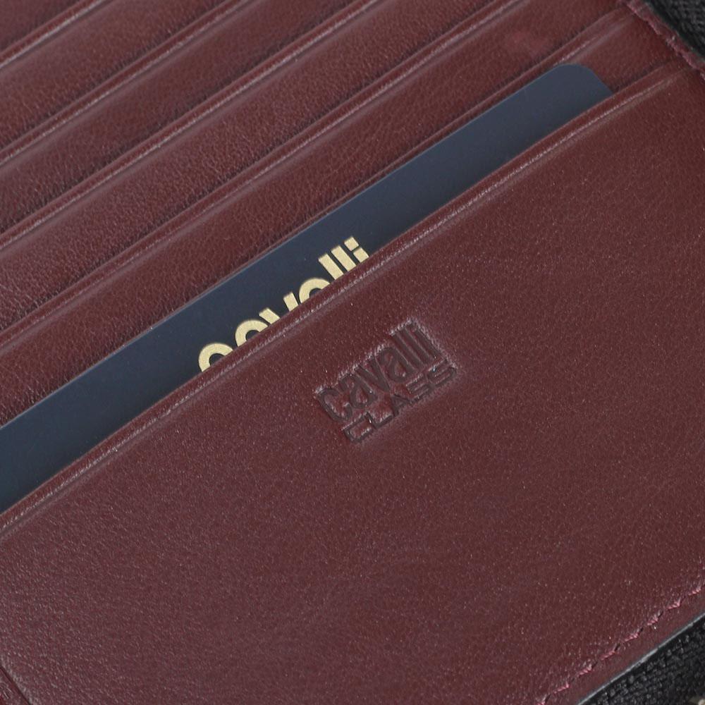 Травел-кейс Cavalli Class из крупнозернистой кожи черного цвета
