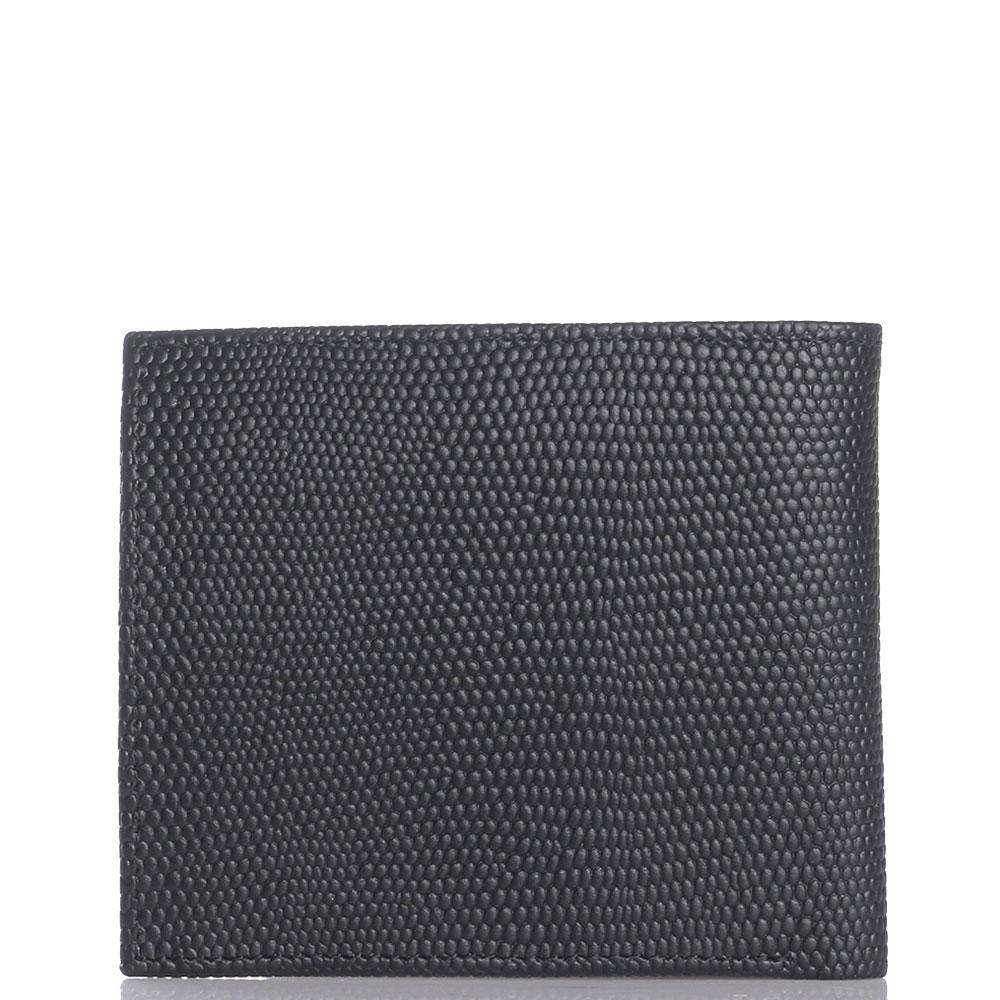 Черное портмоне Cavalli Class Monsieur из фактурной кожи