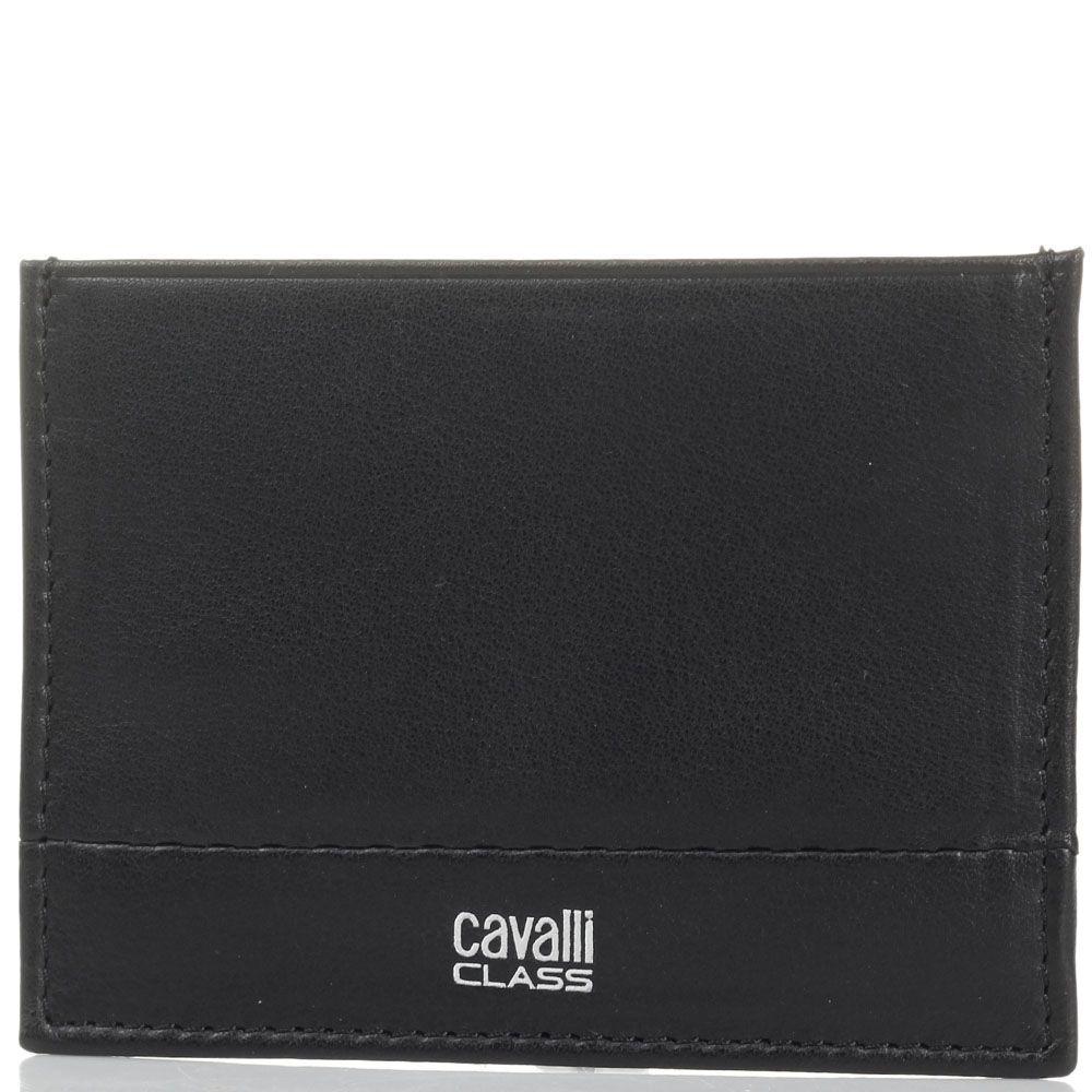 Кардхолдер Cavalli Class из мягкой кожи черного цвета