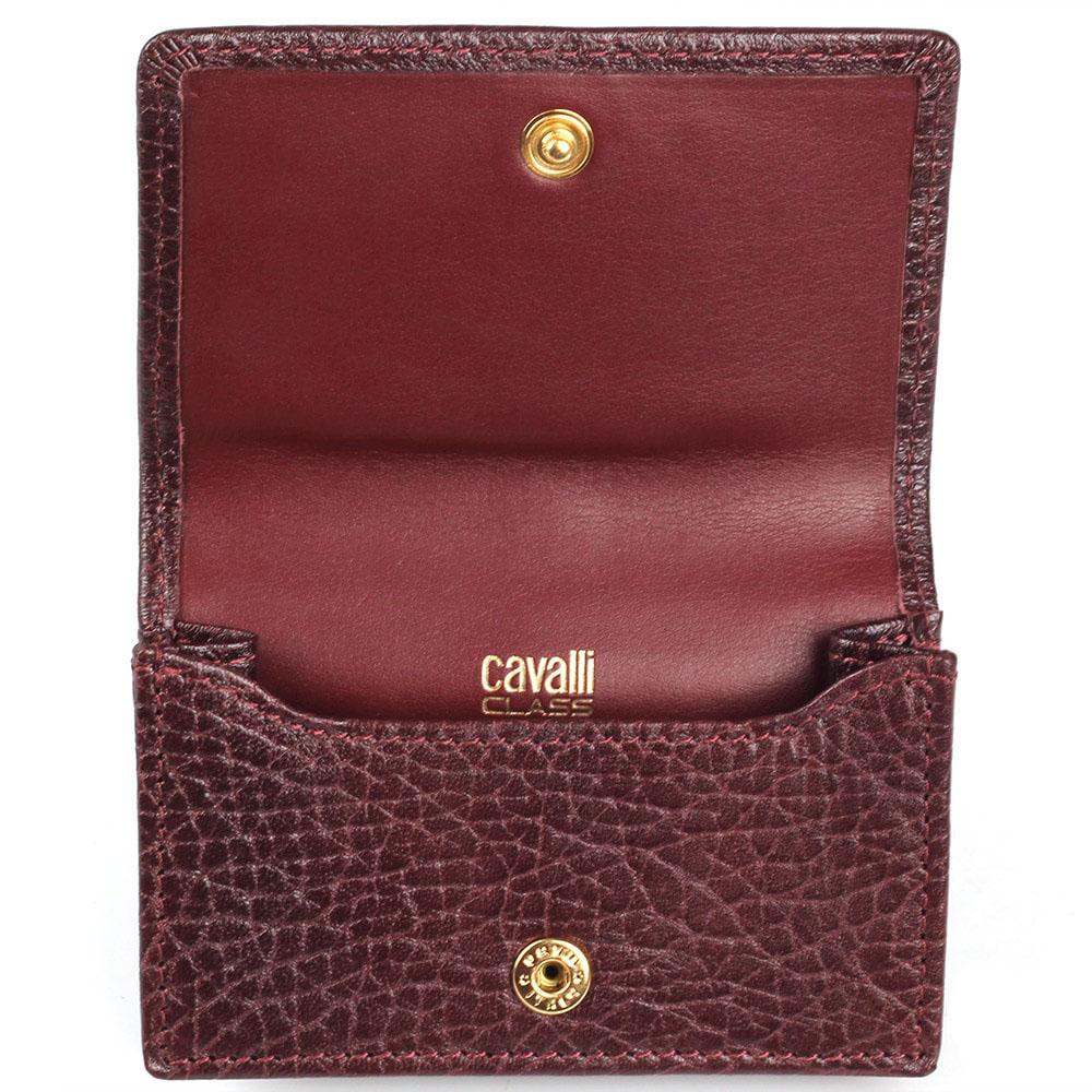 Визитница Cavalli Class Pantera Nera из кожи коричневого цвета