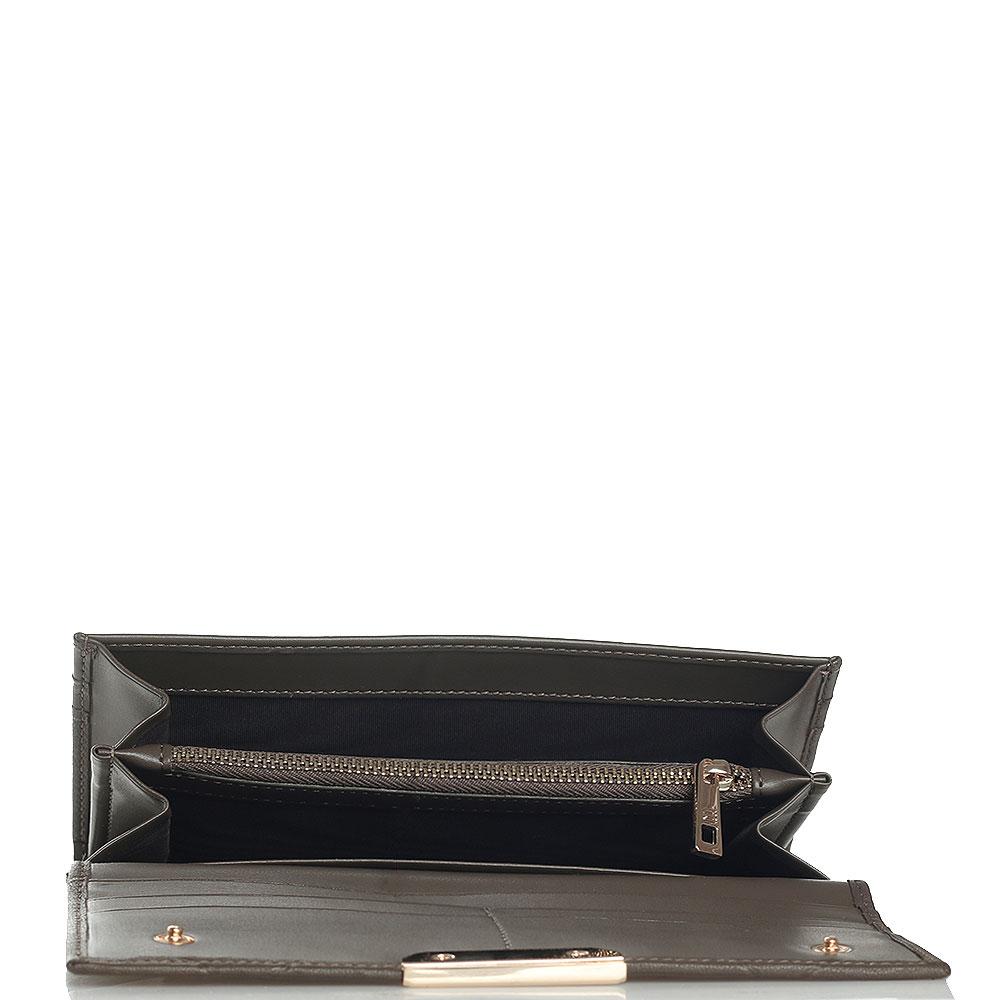 Длинный кошелек Cavalli Class Anaconda коричневого цвета